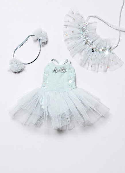 SWALLOW SONG DOLLS OUTFIT - DUCK EGG