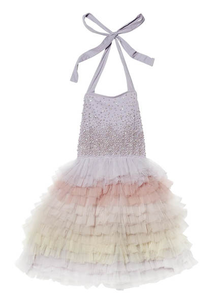 WATERFALL TUTU DRESS - FOG