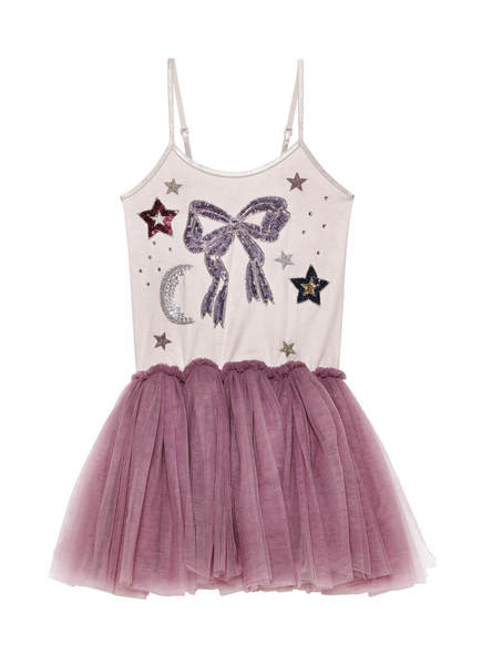 TAKE ME TO THE MOON TUTU DRESS - PLUM