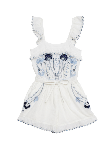 MUSICAL FOUNTAIN PLAYSUIT - MILK