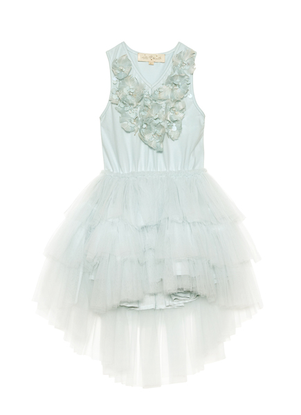 WHISPERING MEADOWS TUTU DRESS - AQUA GLAZE