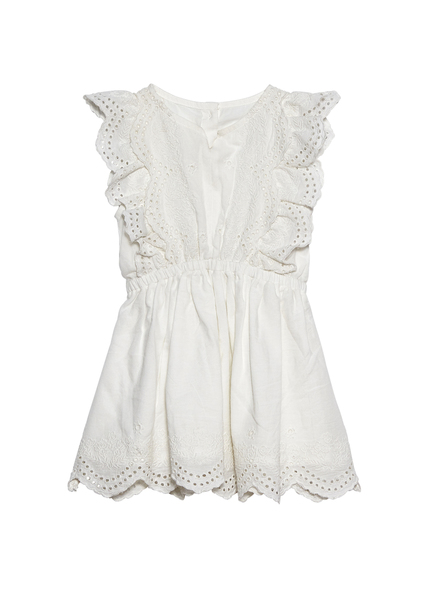 BÉBÉ - CARNATION KISSES DRESS - MILK