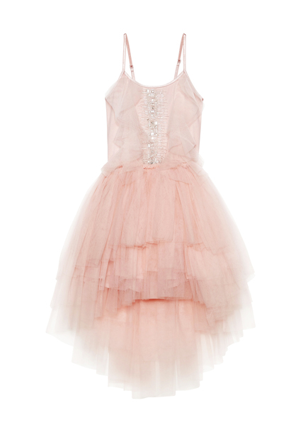 CASCADING TULIP TUTU DRESS - MARSHMALLOW