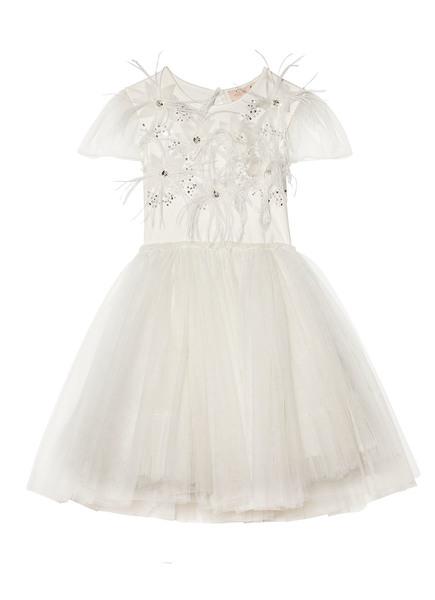 CAMELLIA HEARTS TUTU DRESS - MILK