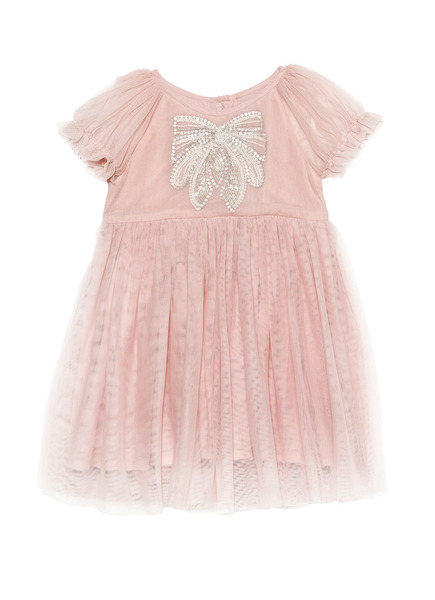 BÉBÉ - LITTLE MISS BLOSSOM DRESS - MARSHMALLOW