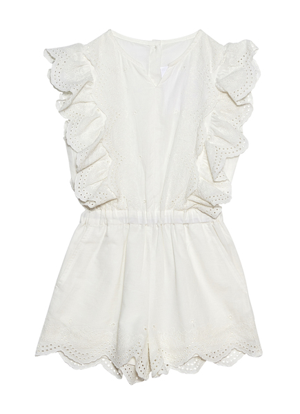 CARNATION PLAYSUIT - MILK