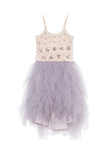 PEONY OBSESSION TUTU DRESS - EARL GREY