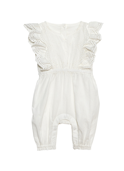 BÉBÉ - CARNATION KISSES ROMPER - MILK