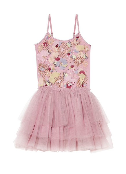 FLOWER POT TUTU DRESS - BUBBLEGUM