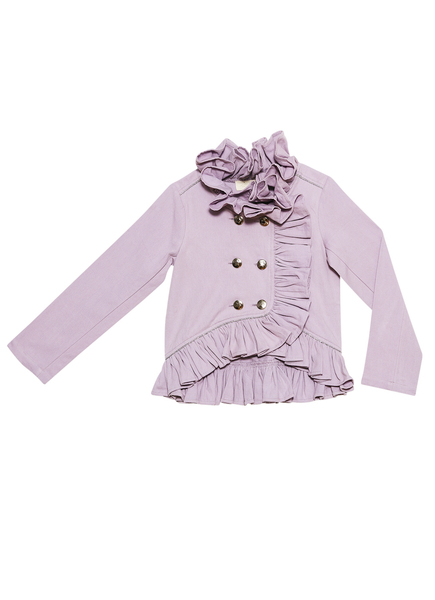 AZALEA RUFFLE JACKET - ELDERBERRY