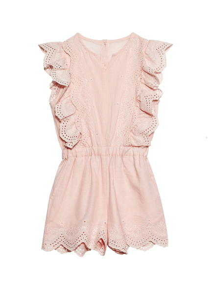 CARNATION PLAYSUIT - LYCHEE