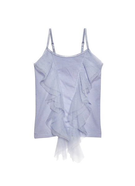 DELICATE BREEZE RUFFLE SINGLET - BLUEMOON