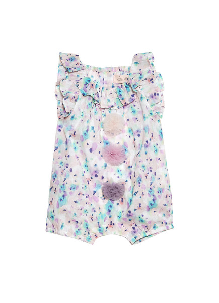 BÉBÉ -  BUBBLE BREATH ROMPER - BUBBLE PRINT