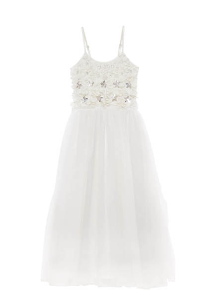 PETAL ME LONG TUTU DRESS - MILK