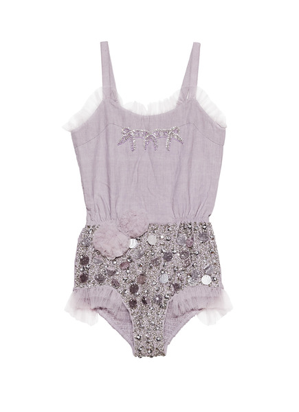 LITTLE SECRETS ONESIE - ELDERBERRY