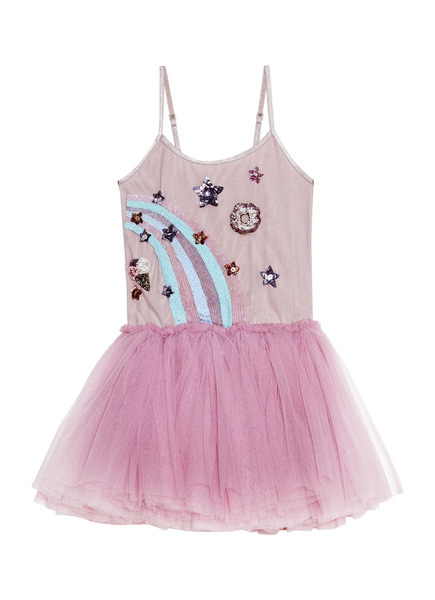 RAINBOW SWIRL TUTU DRESS - BUBBLEGUM
