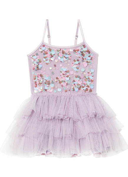 BÉBÉ - POPPING CANDY TUTU DRESS - ELDERBERRY