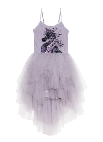 FANTASTICAL UNICORN TUTU DRESS - FOG