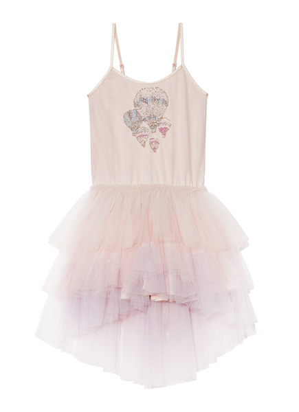 FLOATING BUBBLES TUTU DRESS - LYCHEE