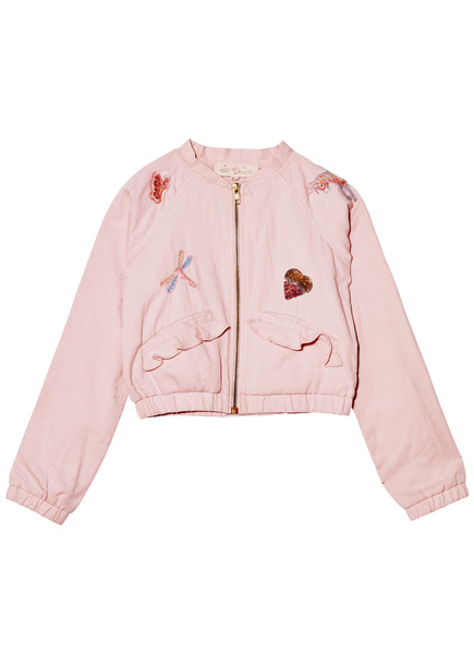 FEEL THE MAGIC BOMBER JACKET - MARSHMALLOW