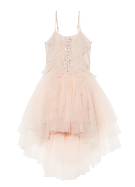 CASCADING TULIP TUTU DRESS - TEA ROSE