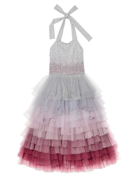 WATERFALL TUTU DRESS - SILVER