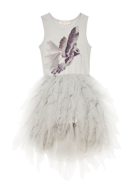WINTER SNOWFALL TUTU DRESS - SILVER