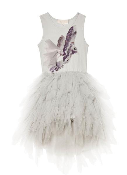 WINTER SNOWFALL TUTU DRESS - SILVER