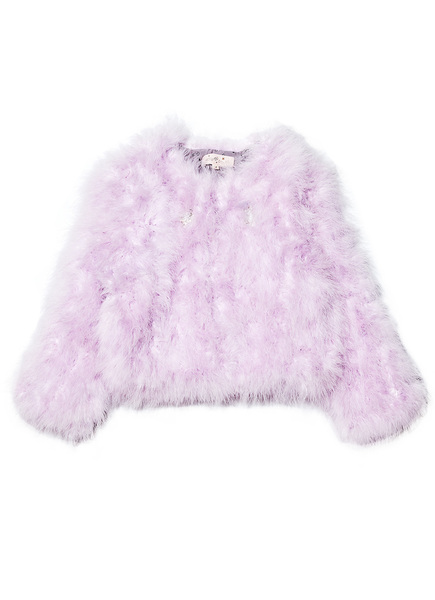 WINTER'S FIRE MARABOU JACKET - VIOLET VEIL