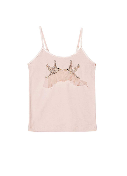 DOVE'S KISS SINGLET - TEA ROSE