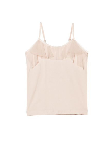 ENVY RUFFLE SINGLET - TEA ROSE