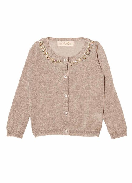 CRYSTAL GLACIER CARDIGAN - TEA ROSE