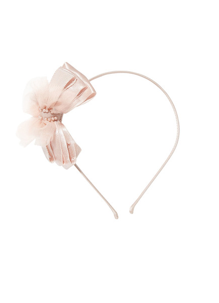 BOW TALES HEADBAND - TEA ROSE