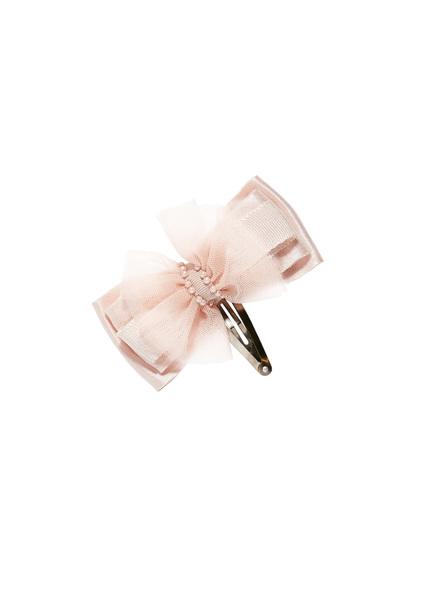 BOW TALES HAIR CLIP - TEA ROSE