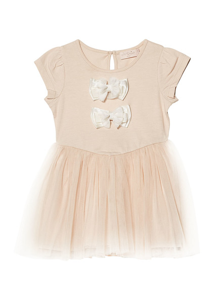 BÉBÉ - BOW TALES S/S DRESS - SHORTCAKE