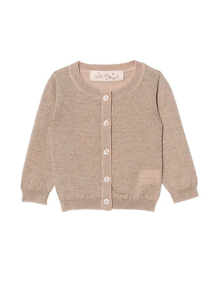 BÉBÉ - GLACIAL CARDIGAN - TEA ROSE