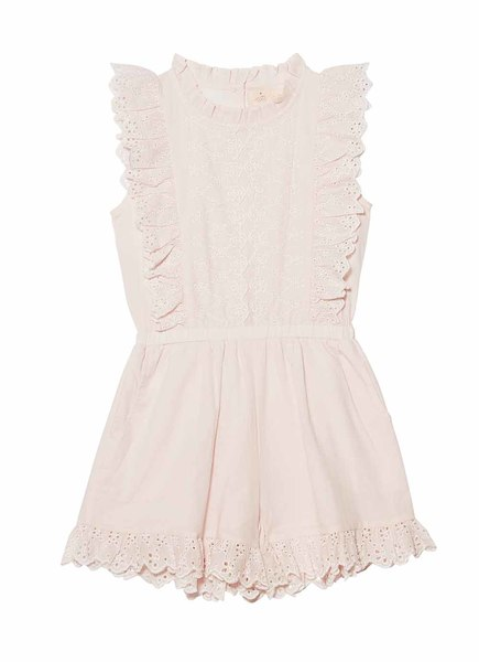 SWEET NETTLE PLAYSUIT - TEA ROSE