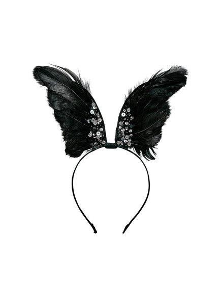 RAVEN WINGED HEADBAND - BLACK