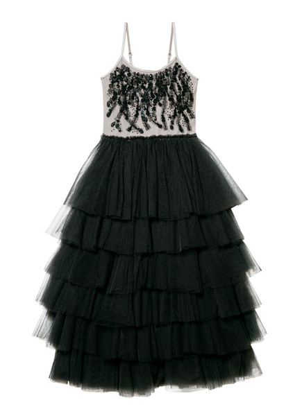 MASKED BEAUTY TUTU DRESS - BLACK