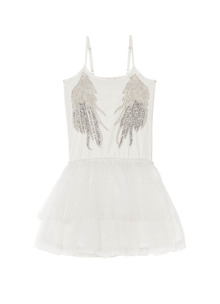 WHISPERS IN THE WINGS TUTU DRESS - MILK