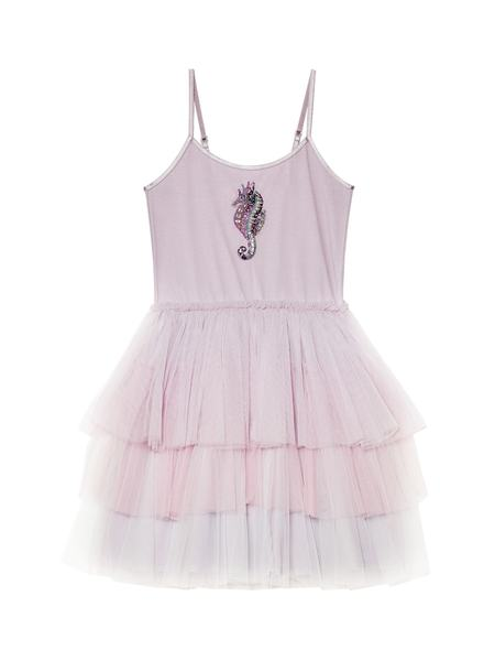 ROCKING SEAHORSE TUTU DRESS - ELDERBERRY