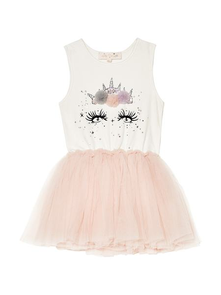 LUNA TUTU DRESS - TEA ROSE