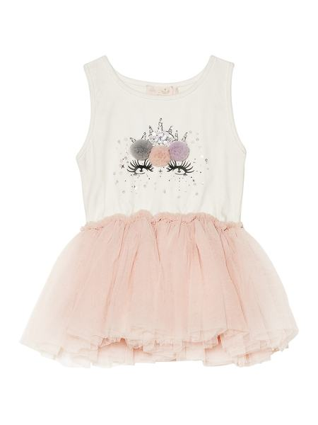 BÉBÉ - LITTLE LUNA TUTU DRESS - TEA ROSE