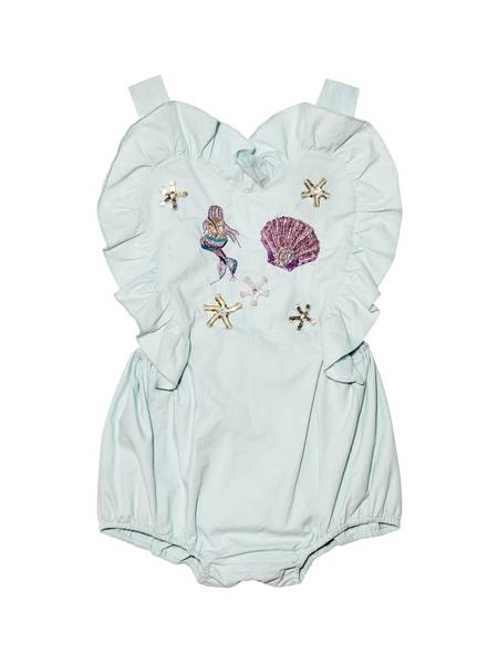 MERMAID MELODY ONESIE - AQUA GLAZE