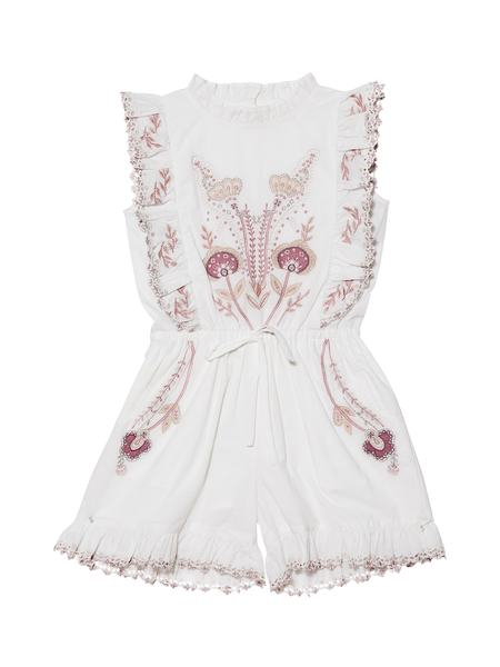 MUSICAL MOMENT PLAYSUIT - MILK