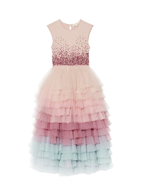 MOMENT TO SHINE LONG TUTU DRESS - DUSTY PINK