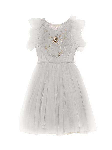 DAZZLING HEART TUTU DRESS - DOVE