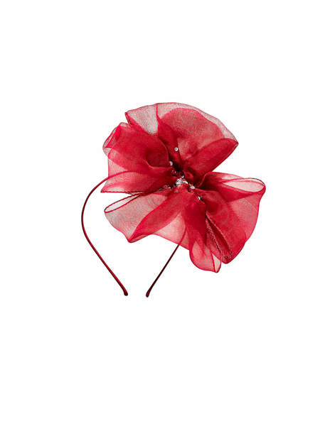 MAYA BOW HEADBAND - CHERRY