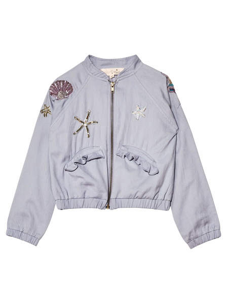 MERMAID MELODY BOMBER JACKET - BLUEMOON