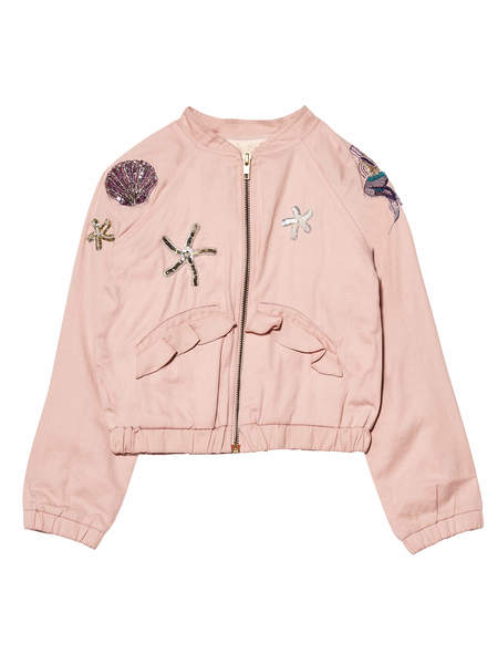 MERMAID MELODY BOMBER JACKET - MARSHMALLOW